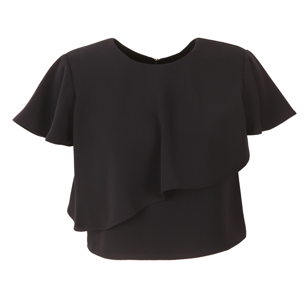 Deppiy Layered Frill Cropped Top main image