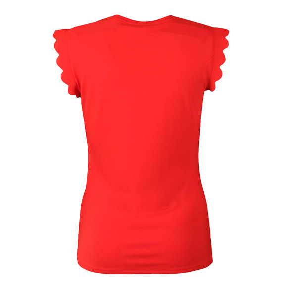 Ted Baker Womens Orange Scallop Detail Fitted Tee main image