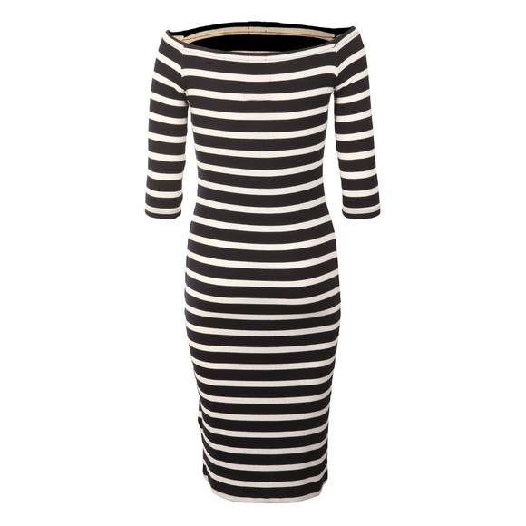 Superdry Womens Blue Breton Wrap Dress main image