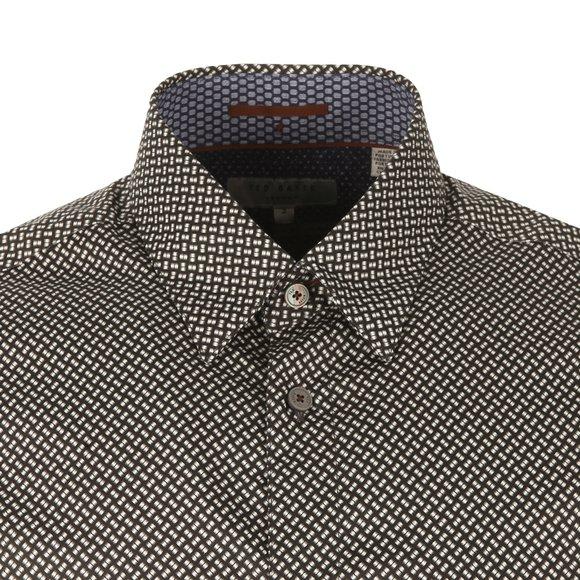 Ted Baker Mens Black  Tidal L/S Dome Printed Shirt main image