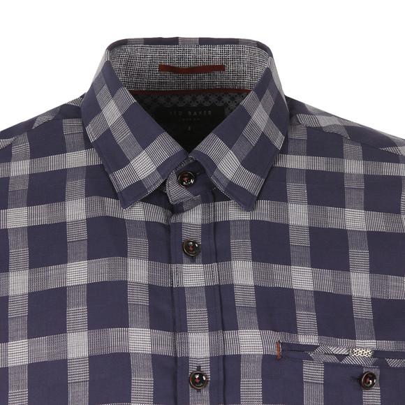 Ted Baker Mens Blue S/S Checked Shirt main image