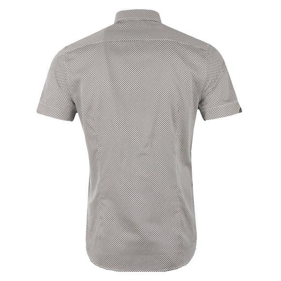 Ted Baker Mens Blue Munkee S/S Diamond Print Shirt main image