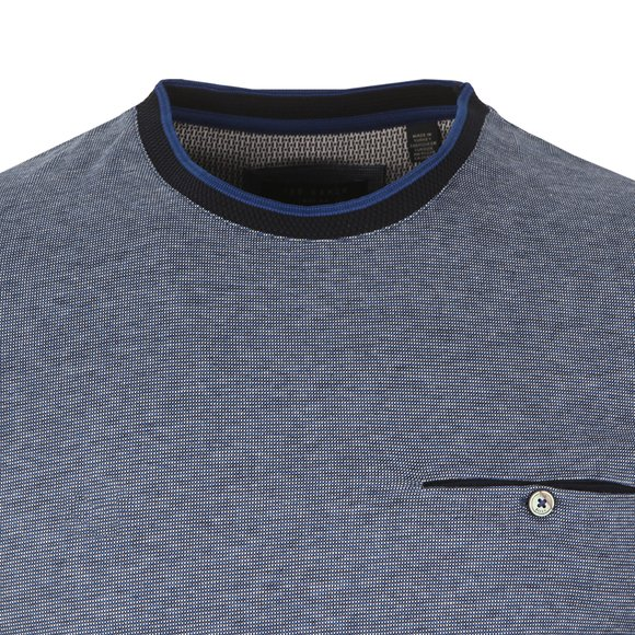 Ted Baker Mens Blue Richie Crew Neck Tee main image