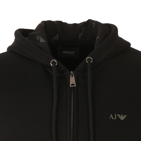 Armani Jeans Mens Black 8N6M01 Full Zip Hoody main image