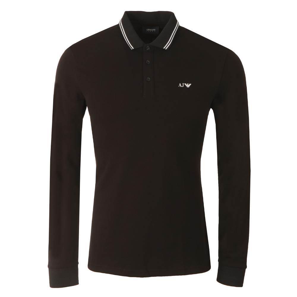 8N6F36 Tipped Long Sleeve Polo Shirt main image