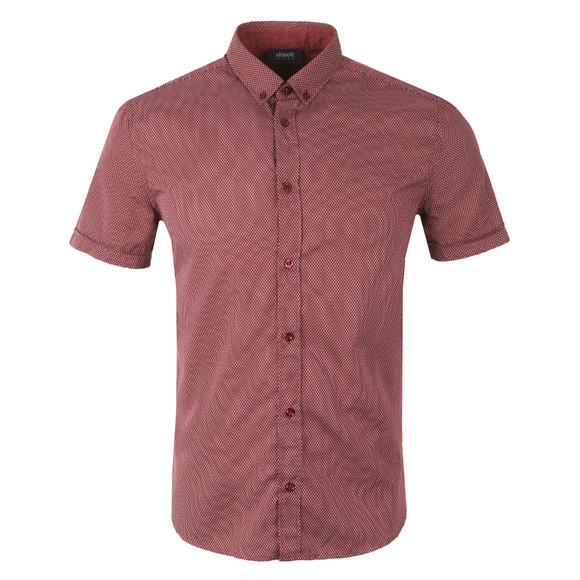 Armani Jeans Mens Red Regular Fit  Patterned Shirt main image