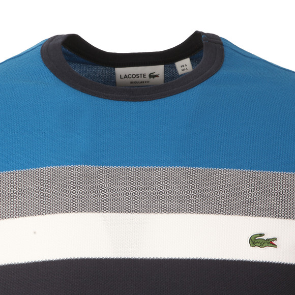 Lacoste Mens Multicoloured TH1928 Block Stripe Tee main image