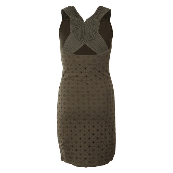 Superdry Womens Green Schiffli Knotty Bodycon Dress main image