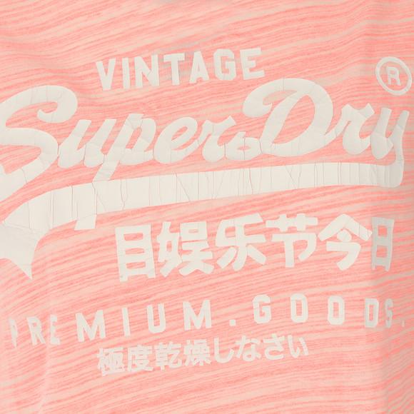 Superdry Womens Pink Premium Goods BF Tee main image