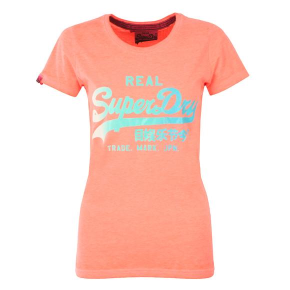 Superdry Womens Pink Vintage Logo Burnout Tee main image