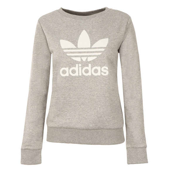 Adidas Originals Womens Grey Crew Sweater main image