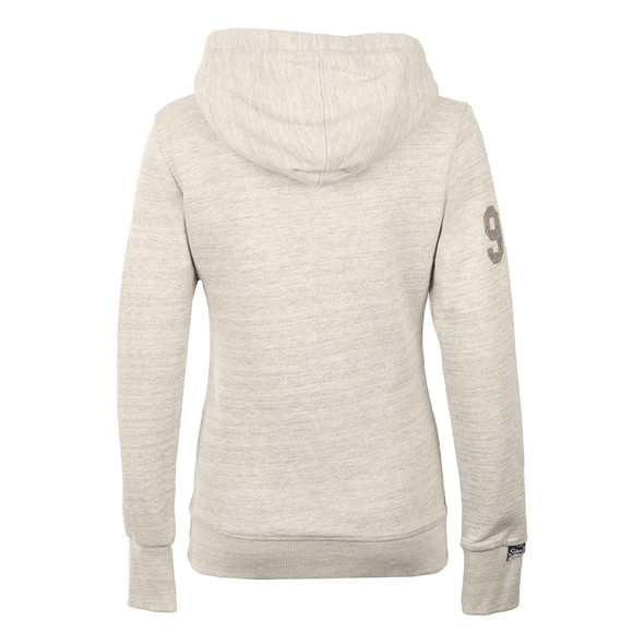 Superdry Womens Grey Vintage Logo Injected Jersey Hoody main image