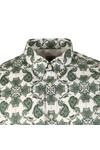 Pretty Green Mens Green Palatine Pattern Shirt