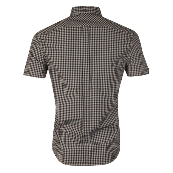 Ben Sherman Mens Grey S/S Core Gingham Shirt main image