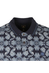 Pretty Green Mens Blue Palatine AOP Polo Shirt