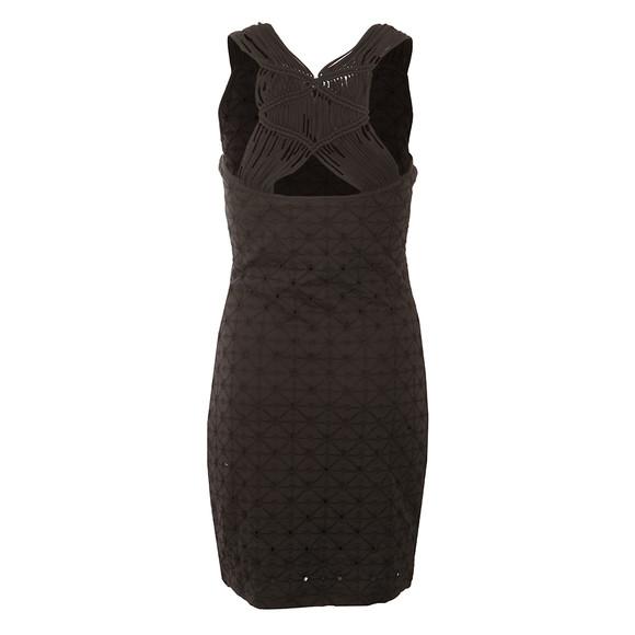 Superdry Womens Black Schiffli Knotty Bodycon Dress main image