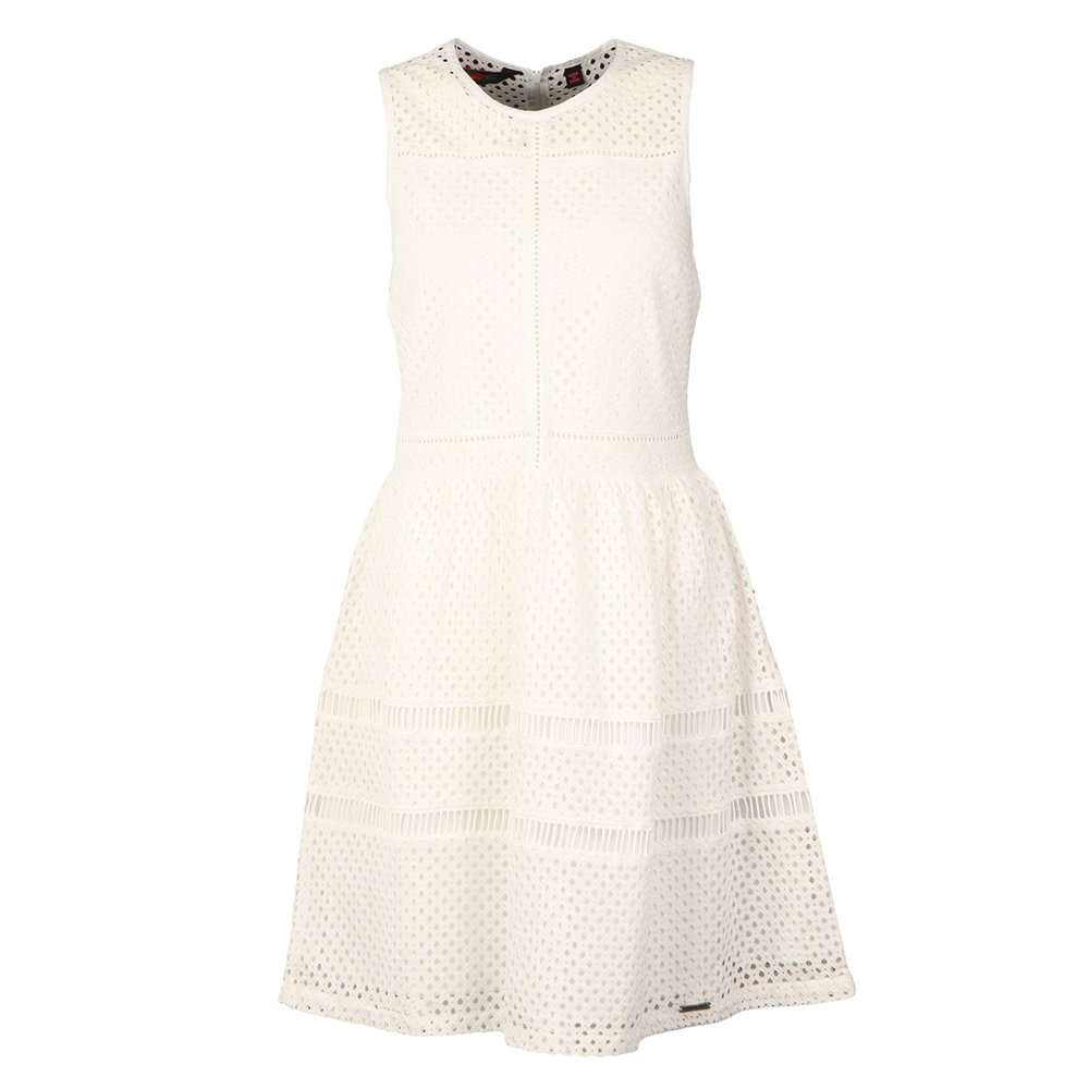 Geo Lace Mix Skater Dress main image
