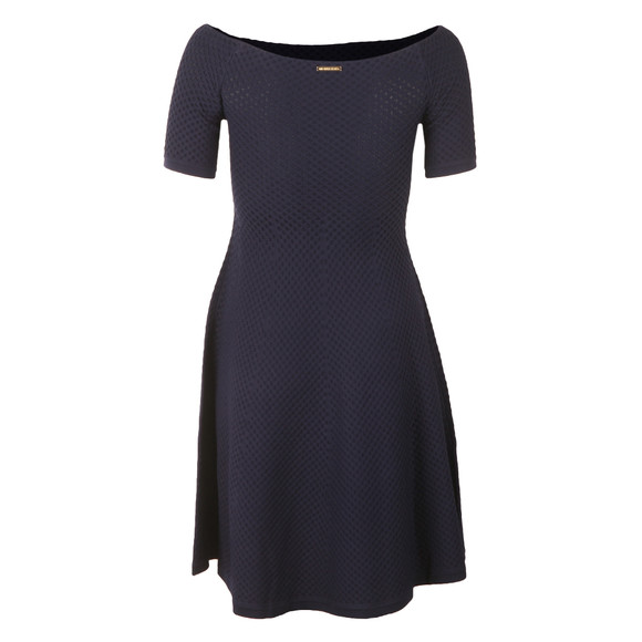 Michael Kors Womens Blue Off Shoulder Texture Dress main image