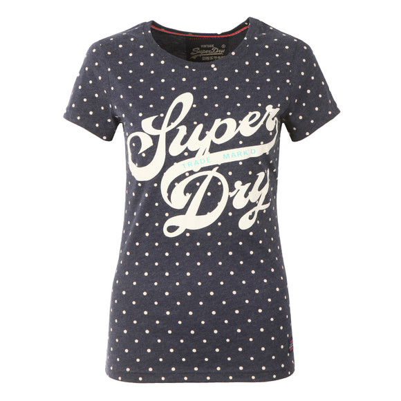 Superdry Womens Blue Trade Markd Entry Tee main image