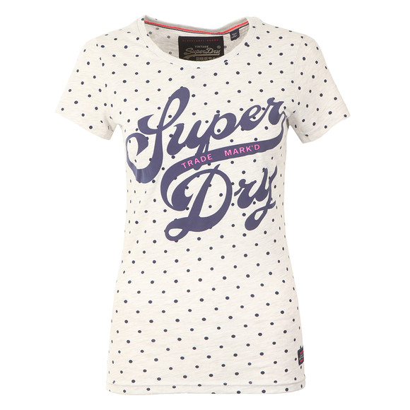 Superdry Womens Grey Trade Markd Entry Tee main image
