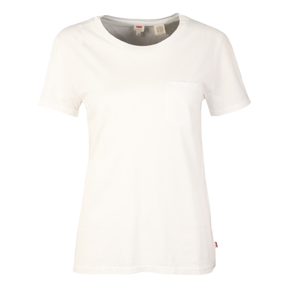 Levi's Womens White The Perfect Pocket Tee main image