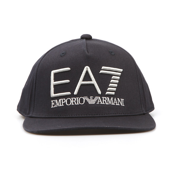 EA7 Emporio Armani Mens Blue Embroidered Logo Cap main image