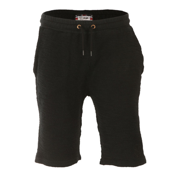 Sik Silk Mens Black Reverse Flannel Gym Shorts main image