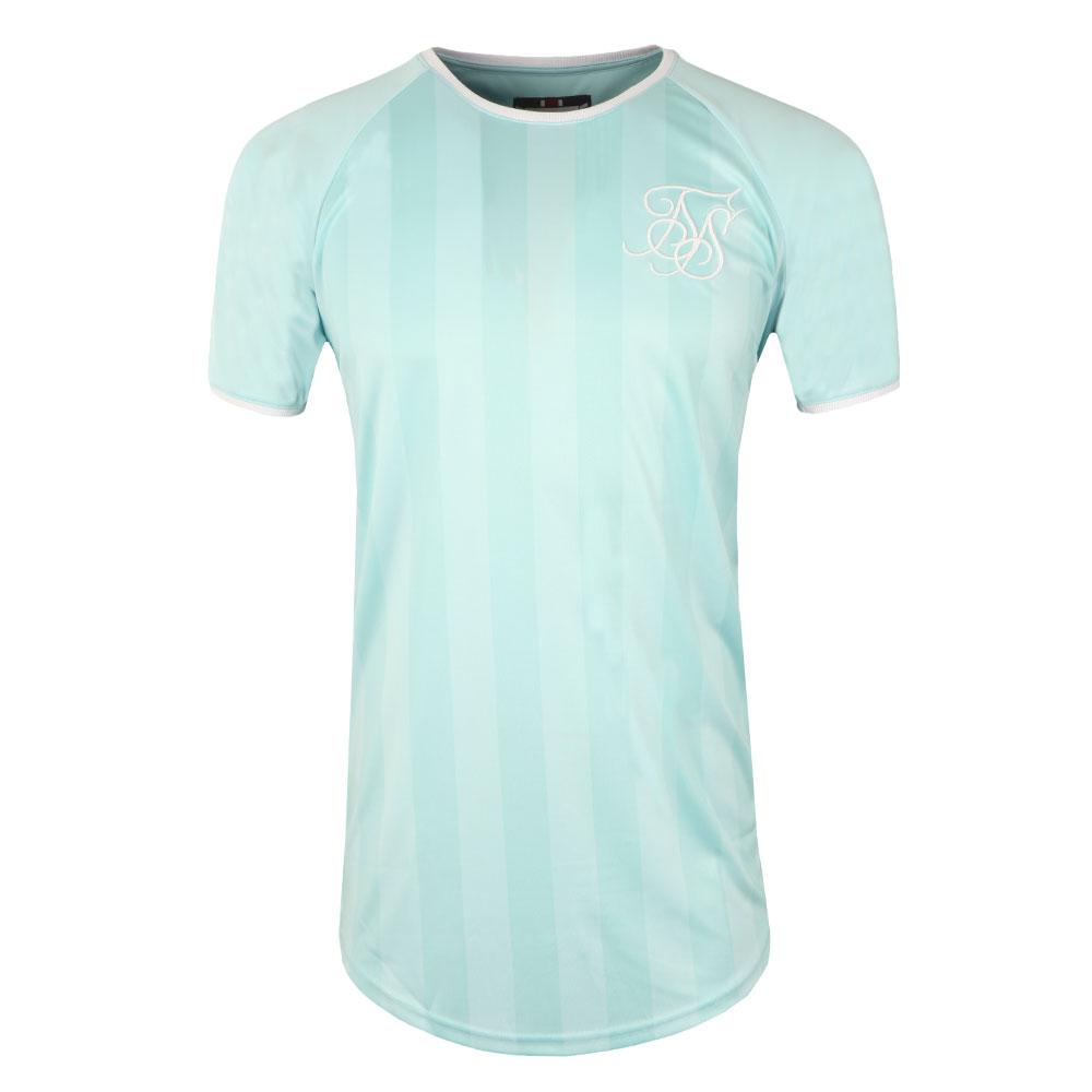 Retro Stripe Curve Hem T Shirt main image