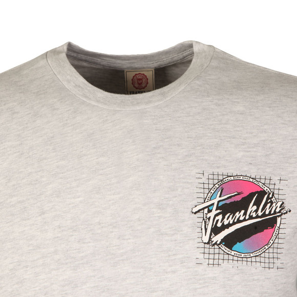 Franklin & Marshall Mens Grey Surf Shop Logo T Shirt main image