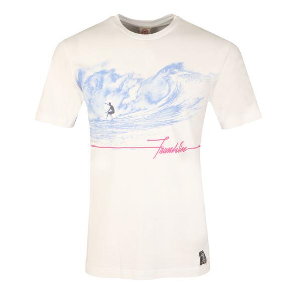Franklin & Marshall Mens White Surfing Print T Shirt main image