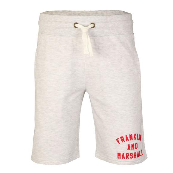 Franklin & Marshall Mens Grey Embroidered Logo Sweat Short main image