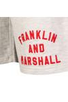 Franklin & Marshall Mens Grey Embroidered Logo Sweat Short