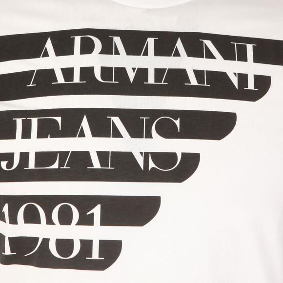 Armani Jeans Mens White Side Logo T Shirt main image