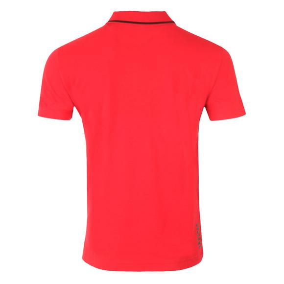 EA7 Emporio Armani Mens Red Small Logo Pique Polo main image