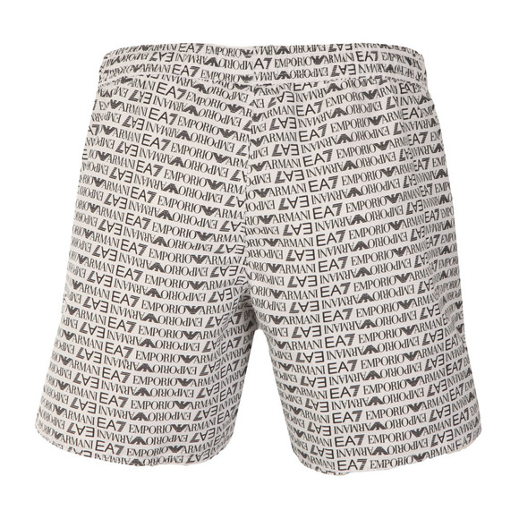 EA7 Emporio Armani Mens White Seaworld Allover Swim Short main image