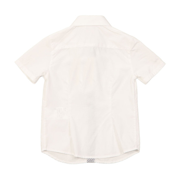 Armani Junior  Boys White Short Sleeve Plain Shirt  main image