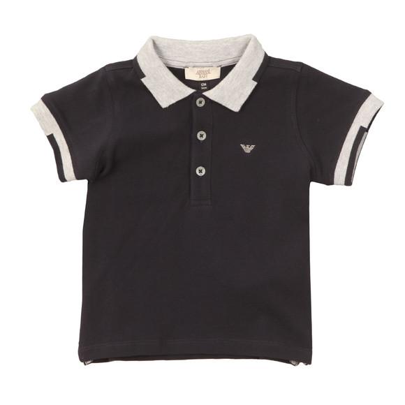 Armani Baby Boys Blue 3YHF01 Tipped Polo Shirt main image
