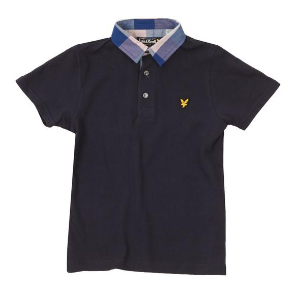 Lyle And Scott Junior Boys Blue Check Collar Polo Shirt main image
