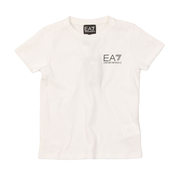 EA7 Emporio Armani Boys White Small  Logo T Shirt main image