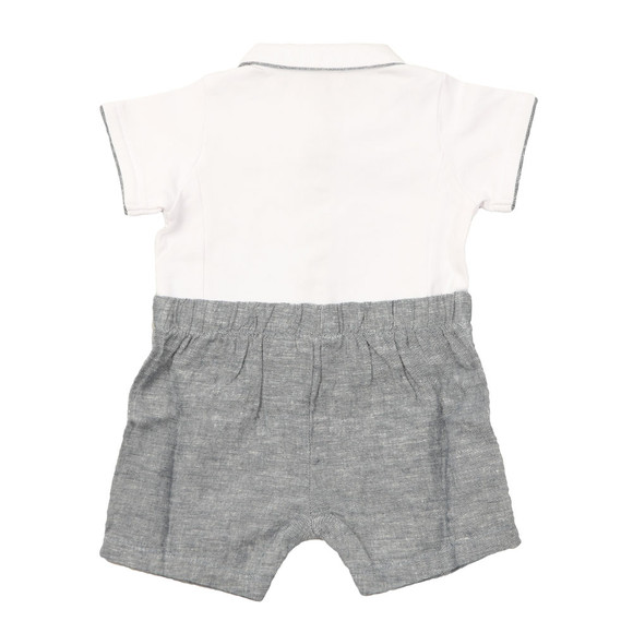 Armani Baby Boys White Short Romper main image