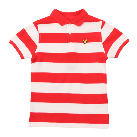 Lyle And Scott Junior Boys Orange Block Stripe Polo Shirt main image