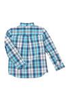 Lyle And Scott Junior Boys Blue Poplin Big Check Shirt