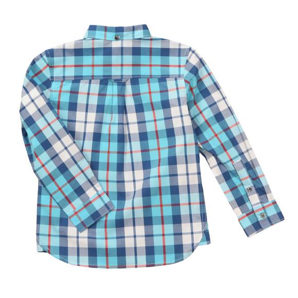 Lyle And Scott Junior Boys Blue Poplin Big Check Shirt main image