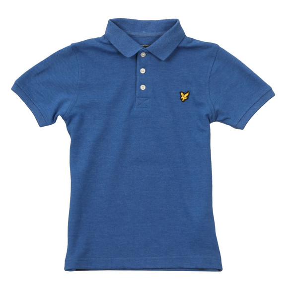 Lyle And Scott Junior Boys Blue Classic Marl Polo Shirt main image