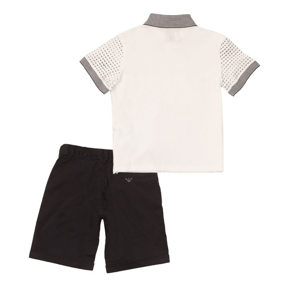 Armani Junior  Boys White Polo & Short Set main image