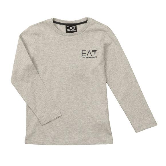 EA7 Emporio Armani Boys Grey Small Logo Long Sleeve T Shirt main image