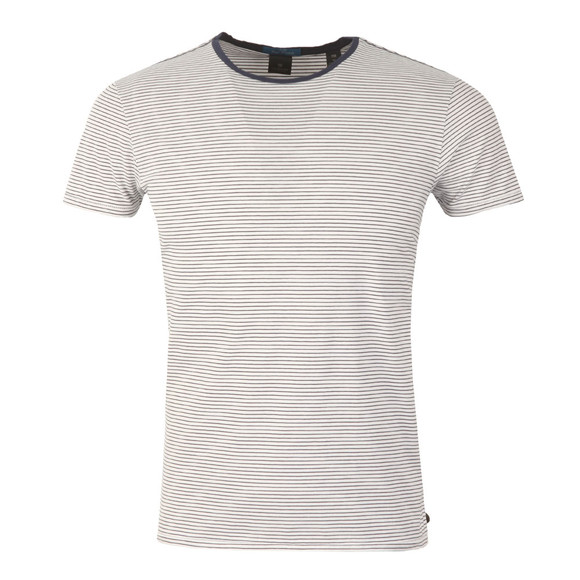 Scotch & Soda Mens White Classic Crew Neck T Shirt main image