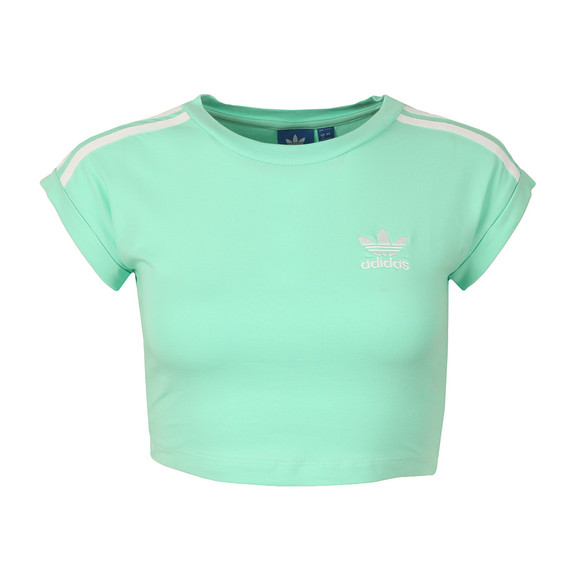 Adidas Originals Womens Green Cropped Top main image