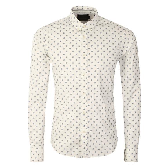 Scotch & Soda Mens White Classic Longsleeve Shirt main image