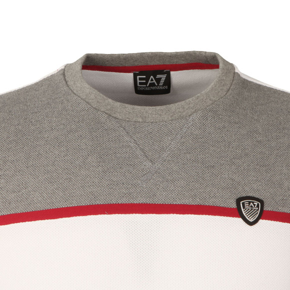 EA7 Emporio Armani Mens White Contrast Shield Logo Sweat main image